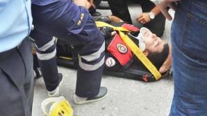 Trafik polisi kazada öldü