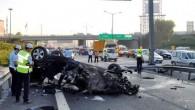 TEM Tekstilkent ayrımında kaza: 2 ölü, 1 yaralı
