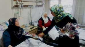 AK Parti Nevşehir Kadın Kolları Hastalara Karanfil Dağıttı
