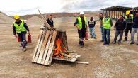 Avanos Belediyesi İşçileri Yangın Tatbikatı Yaptı