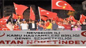 Nevşehir'de Sağlıkçılar Vatan Nöbetinde