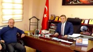 AVANOS ESNAF ODASI BAŞKANI KEMAL ÇELİK NTSO GENEL SEKRETERİ AYDOĞAN'I ZİYARET ETTİ