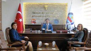 Avanos Kaymakamı Muhammed Sait BAYTOK'u Türkiye Satranç Federasyonu Başkanı Gülkız TULAY Ziyaret Etti